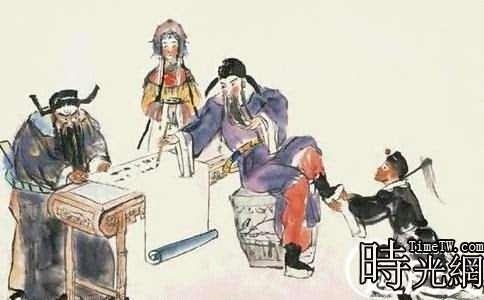 高力士給李白脫靴圖